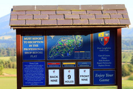 Dun Laoghaire Golf Course Information Board